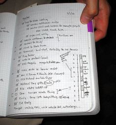 Dave Gray's Time Management System using a Miquelrius notebook - I should do something like this, for home projects, very inspirational!