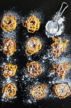 Bite Size Pumpkin Funnel Cake Crispies from @Kristen Wogan Doyle of Dine & Dish