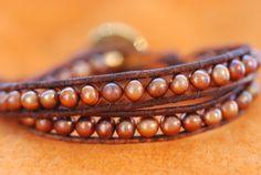 Chan Luu style leather double wrapped bracelet copper by SuziBeadz, $26.00