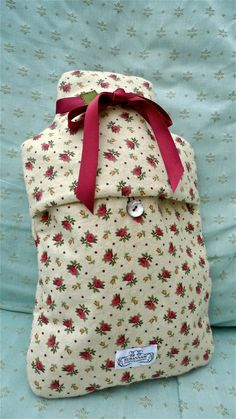Winceyette Ditsy Floral Hot Water Bottle Cover