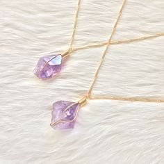 Rough Amethyst Point Necklace