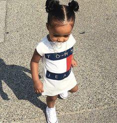 Pinterest: @TiiffanyMariia ♛ So Cute Baby, Cute Mixed Babies, Cute Black Babies, Baby Kind, Pretty Baby, Cute Baby Clothes, Cute Babies, Cute Kids Fashion, Little Girl Fashion