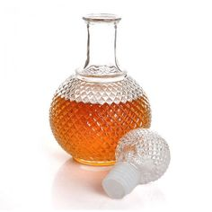 Crystal Whiskey Wine Shot Glass Bottle With Cap Stopper Drinking Bar Decanter  #Unbranded