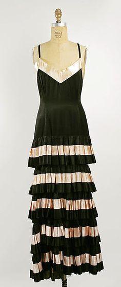 Evening dress (image 1) | Callot Soeurs | French | 1930 | silk | Metropolitan Museum of Art | Accession Number: C.I.63.2.2