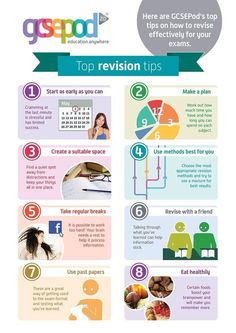 Top tips on how to #revise effectively for your exams. #revision @GCSEPod pic.twitter.com/uJJaqFcyVu
