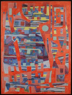 Turis davidica (La Tour de David) 1952 Alfred Manessier #LaTourdeDavid #AlfredManessier