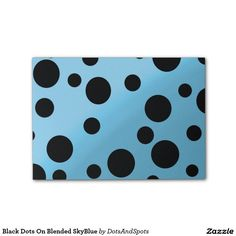 Black Dots On Blended SkyBlue Post-it® Notes