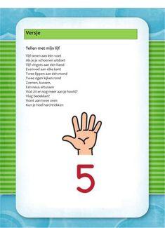 Versje: Cijfers (5) Close Reading, Human Body, Kindergarten, Drama, Teaching, Languages, School, Kids, Preschool