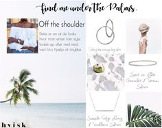 Off the shoulder look which I personally love. I don´t know but there is just something about this shoulder showing shirts and dresses that capture my eyes. With the help of #hvisk you can style this look up and down as you please.   #hvisk #hviskstyling #hviskstylist #hviskjewellery #offtheshoulder #palms #summer