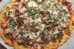 SUGAR + SAGE: Meatless Monday: Mushroom & Basil Pizza with Cauliflower Crust