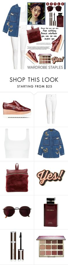 """You inspire me"" by mood-chic ❤ liked on Polyvore featuring STELLA McCARTNEY, H&M, Valentino, Kara, Anya Hindmarch, Ray-Ban, Dolce&Gabbana, Givenchy, tarte and denimjackets"
