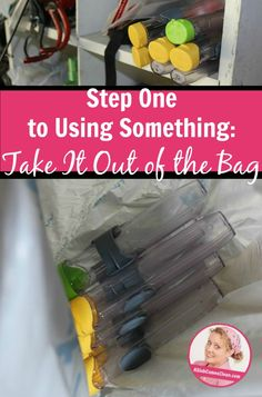 Step One to Using Something Take It Out of the Bag at ASlobComesClean.com