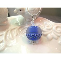 Blue Neckace Glass Lampwork Bead with crystals ($34) ❤ liked on Polyvore featuring jewelry, necklaces, blue glass necklace, colorful bead necklace, glass necklace, multicolor bead necklace and handcrafted necklaces