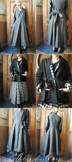 BOHEME CHIC : les Filles d'Ailleurs, jupes, robes, veste, manteaux... Doudoune…