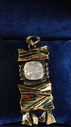 Rose Quartz, Finland, Vintage Jewelry, Bronze, Pendants, Number, Retro, Beautiful, Vintage Jewellery