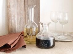 Hand Blown Glass Wine Decanters