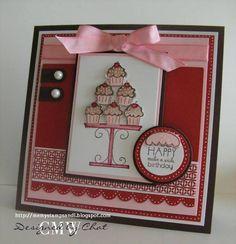 LSC195,WT193 Chocolate Cupcakes by nitestamper - Cards and Paper Crafts at Splitcoaststampers