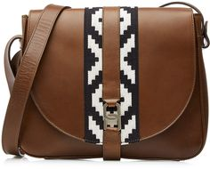 Vanessa Seward Shoulder Bag with Contrast Fabric Panel