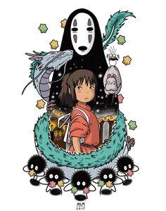 Shihiro Spirited Away Studio Ghibli Tattoo, Studio Ghibli Art, Studio Ghibli Movies, Studio Ghibli Characters, Anime Kunst, Anime Art, Spirited Away Art, Spirited Away Wallpaper, Spirited Away Characters