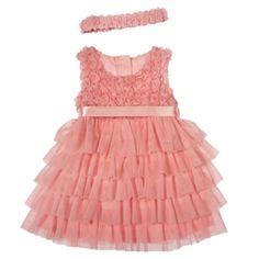 Panço Kız Bebek Elbise (0-2 Yas) 1312675 Çocuk Abiye,Elbise,Elbise,Panço Çocuk Giyim Panço