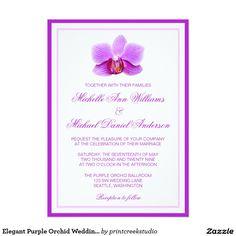 Invitations pourpres élégantes de mariage