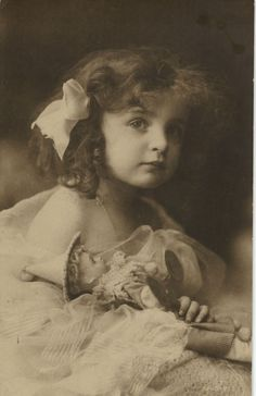 Edwardian Girl with Her Doll - Photo Postcard 1910'S | eBay