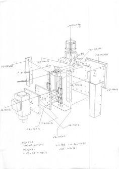 desenho de montagem do eixo Z