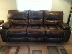 Cindy Crawford Reclining Sofa for Sale in Boca Raton, FL - OfferUp Sofa Sale, Cindy Crawford, Reclining Sofa, Recliner, Couch, Leather, Stuff To Buy, Furniture, Home Decor