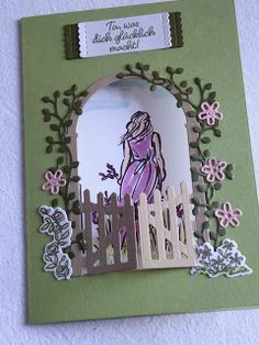 Sea of ideas Erika Schmandt: spring is coming . Birthday Wishes Cards, Handmade Birthday Cards, Fun Fold Cards, Folded Cards, Diy And Crafts, Paper Crafts, Holiday Greeting Cards, Stamping Up Cards, Cards For Friends