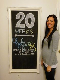 Chalkboard pregnancy update