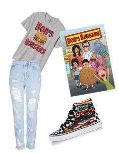 """Bobs Burgers"" by jadelynnisamazadazzle on Polyvore featuring Vans, Gap and Topshop"
