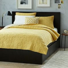 Elevate your bedroom design with west elm's beds. Choose from rustic wood styles, modern upholstered beds, sleek daybeds and cribs to transform your space. Modern Bedroom Furniture, Furniture For Small Spaces, Home Furniture, Furniture Ideas, Bed Frame And Headboard, Headboards For Beds, Bed Frames, Bed Frame With Storage, Under Bed Storage