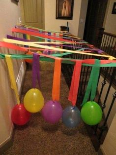 Birthday morning surprise- kid gets to charge through the crepe paper and balloo. - Birthday morning surprise- kid gets to charge through the crepe paper and balloons- great way to start their special day :] Birthday Morning Surprise, Birthday Fun, Birthday Gifts, Birthday Parties, Birthday Surprise Ideas, Birthday Balloon Surprise, Kids Birthday Surprises, Birthday Quotes, 5th Birthday Ideas For Boys