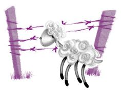 Canan Barış Illustration #illustration #lamb #sheep #kuzu #art