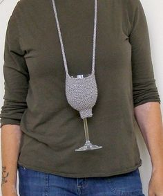 Knitted wine glass holder - i need this! #funny #quirky #strange by sara