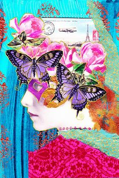Mixed media collage art