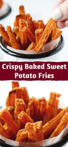 Feb 2020 - This Baked Sweet Potato Fries recipe is easy to prepare without putting in a lot of time and effort. You can serve potatoes with anything, but I prefer to serve sweet potato fries with chicken, Sweet Potato Fries Recipe Baked, Best Baked Sweet Potato, Sweet Potato Recipes Healthy, Healthy Recipes, Baking Sweet Potato, Sweet Potato Chips Fried, Baked Fries Healthy, Whole30 Sweet Potato Fries, Best Fries Recipe
