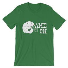 Game On Football Helmet (white ink) Tshirt