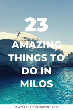 23 Amazing Things to Do in Milos, Greece The Best Things to Do in Milos Greece -- Beautiful turquoise waters, more than 72 beaches, stunning sunsets and delicious Greek cuisine. Milos truly has it all. Greece Itinerary, Greece Destinations, Greece Vacation, Greece Travel, Greek Islands Vacation, Greece Trip, Beautiful Islands, Beautiful Beaches, Greece With Kids