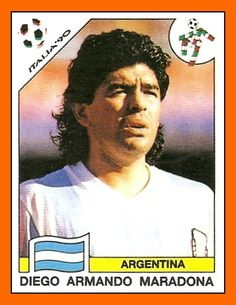 Diego Maradona - Argentina Best Football Players, Good Soccer Players, National Football Teams, World Football, Football Stickers, Football Cards, Football Shirts, Uefa Football, Sport Football