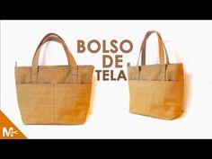 ► CÓMO HACER UN BOLSO DE TELA ELEGANTE 👜 - YouTube Cloth Bags, Purses And Bags, Youtube, Handbags, Tote Bag, Sewing, Videos, Fabric, Curtido