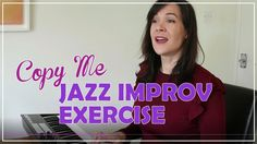 Copy Me Jazz Scat Singing Exercise My Singing, Singing Tips, Singing Techniques, Singing Exercises, Copy Me, Jazz Blues, Choir, Music Songs, Improve Yourself