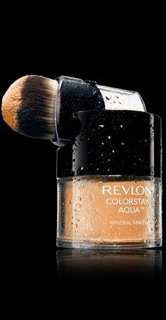 Revlon® ColorStay Aqua™ Mineral Makeup. YOU'VE NEVER FELT MAKEUP LIKE THIS BEFORE. My Shade: LIGHT MEDIUM/MEDIUM.