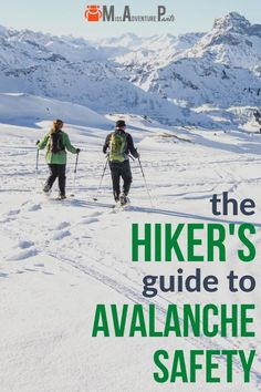 If you're a hiker, snowshoer, mountaineer, or skier, it's important to know how to avoid avalanches in the backcountry. Here are my best avalanche safety tips for planning a trip and avoiding dangerous terrain. #winter #colorado #hiking #avalanche #missadventurepants Hiking Guide, Backpacking Tips, Hiking Gear, Winter Hiking, Winter Camping, Hiking Training, Echo Lake, Continental Divide, Colorado Hiking