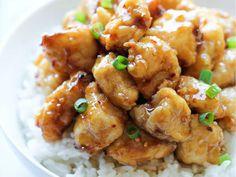 Receta de pollo con miel estilo oriental