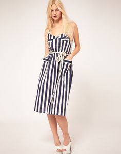 Striped midi. ASOS.