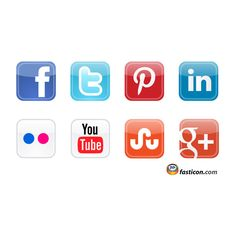 Free Icons Social Media Vector Icons 2012 ❤ liked on Polyvore featuring fillers