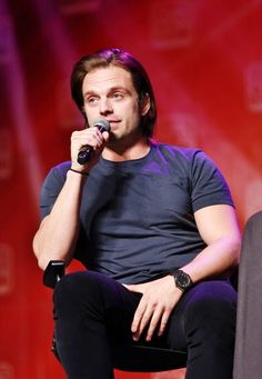 Sebastian Stan...I uh....if you need someone to put their hand on your crotch I am right here. I volunteer.