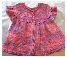 Baby Girl Ruffle Cardigan...so cite.  Pattern download costs $4.00 on Ravelry