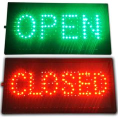 """Bright LED 2 in1 Open & Closed Store Shop Business Sign 19x10"""" Display neon #AhhaProducts"""